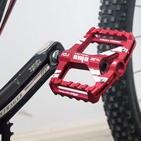 CNC Anodized Aluminum Bicycle Pedal Red Bike Spare Parts
