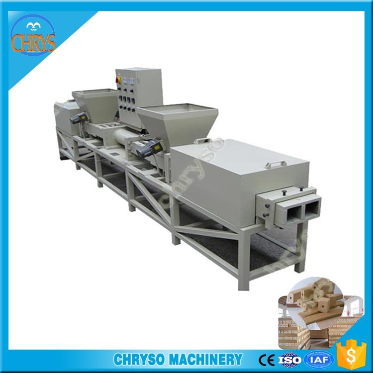 Electric wood pallet block production line/ sawdust recycling wood pallet feet making machine