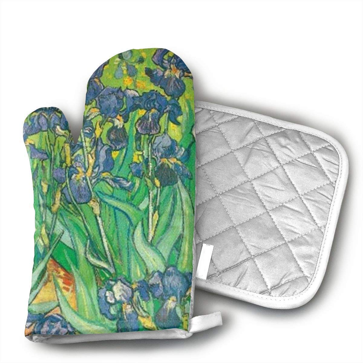 Decorative Oven Mitts Grilling Gloves Heat Resistant Gloves BBQ Kitchen Oven Mitts Long Waterproof Non-Slip Potholder for Barbecue Cooking Baking BBQ Gloves