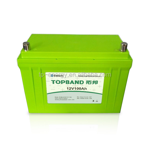 Rechargeable LiFePO4 Battery 12V100Ah