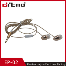 2016 new products 3.5mm metal earphone