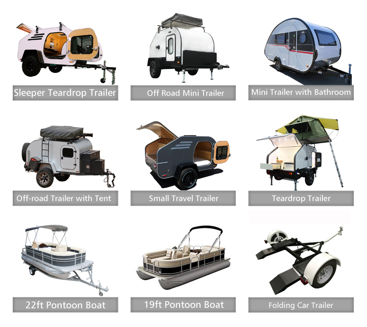 Ecocampor Small Simple Off Road Sleeper Teardrop Camper Travel Trailer with Tent