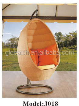 Outdoor Rattan Hanging Egg Chair Swing Pod Chairs Double