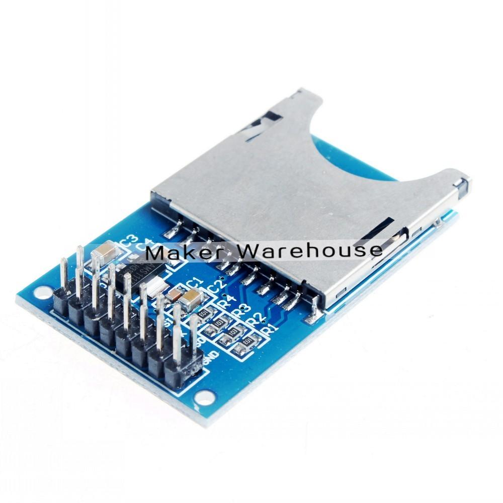 SD Slot Socket SD Reader Module SD Card Module for Camera MP3 MP4 for Arduino ARM