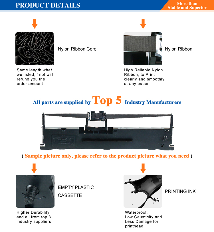 Ruban D'imprimante Compatible pour OKI 420/720/790/5591/5590/5521/5520