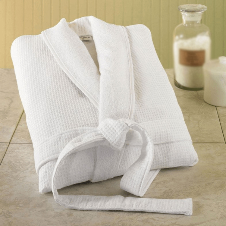 SZPLH Quick Dry Double Layers 100% Cotton Waffle With Inner Terry Bath Robe For Hotel