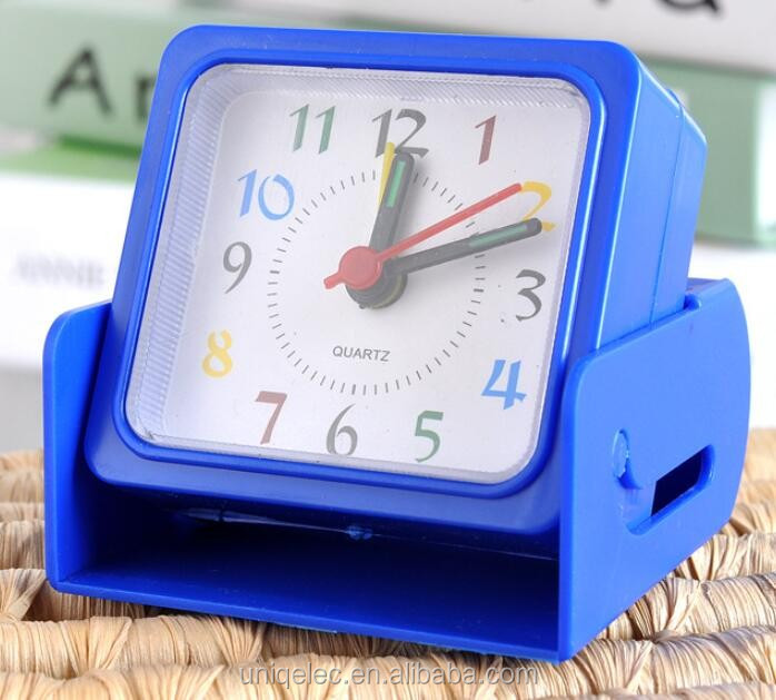 Quartz plastic promotion gift table alarm clock with box