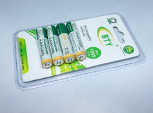 BTY 1000mAh Ni-MH AAA 1.2v Rechargeable Batteries 4pcs-Pack