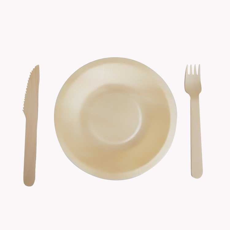 Disposable 100% natural biodegradable wood materials paper plate disposable dishes plate