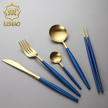Party Decoration Custom Logo Stock Gold Plated Flatware Set Wholesale