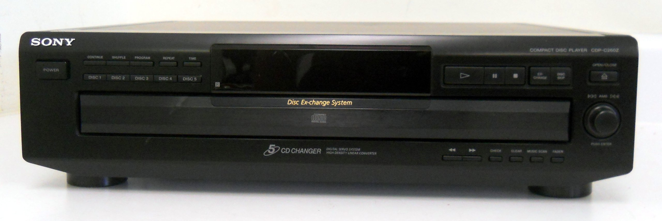 Sony CDP-C260Z Compact Disc Player Changer w/ Disc Exchange System