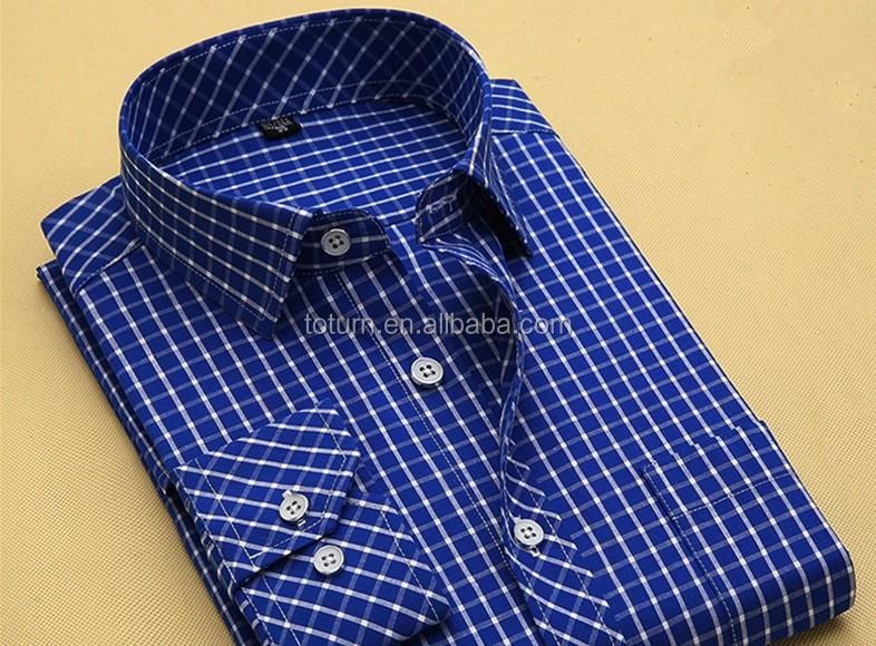 177cea22c7 Slim fit wholesale último modelo patrón a cuadros de manga larga hombres  camisas de vestir para