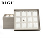 DIGU wholesale custom leather material jewelry display tray