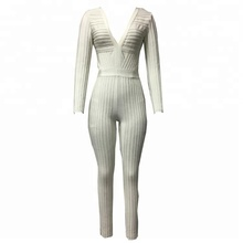 white bodycon casual new style jumpsuit