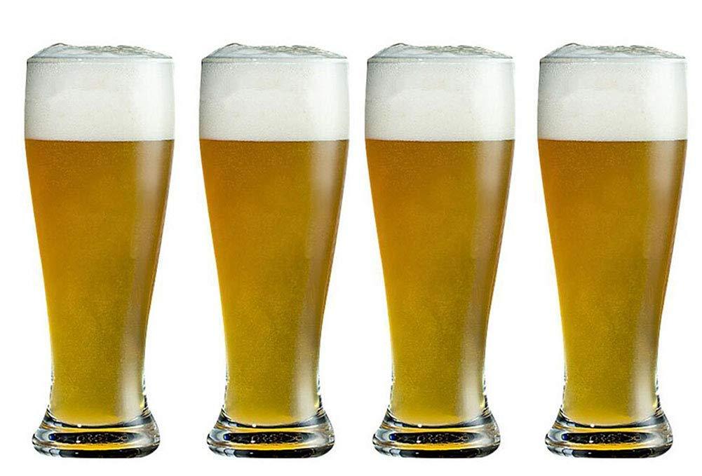 Kefbhefe Thick Beer Mug, Lead-Free Crystal Glass Beer Mug, Glass Juice Cup, Water Cup, 400ML, 4 Piece Set, 6 Piece Set,4Pieceset