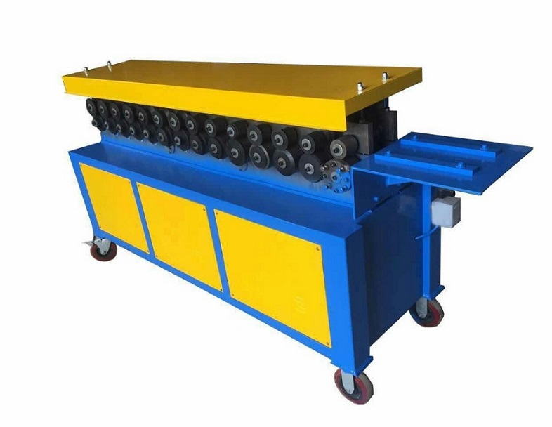 CHEAP PRICE Rectangle Pipe making flange forming machine for square HVAC duct making machine