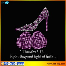 Artsky wholesale Fresh designs 1Timothy 6 12 Fight the good fight of faith Heel and Gloves bead