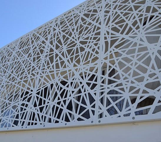 Exterior aluminum laser cut decorative facade panels for Decoration facade
