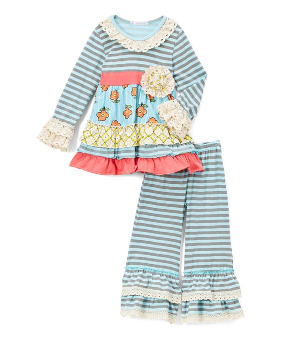 customized girls lace bottom sleeve fall toddler boutique clothing