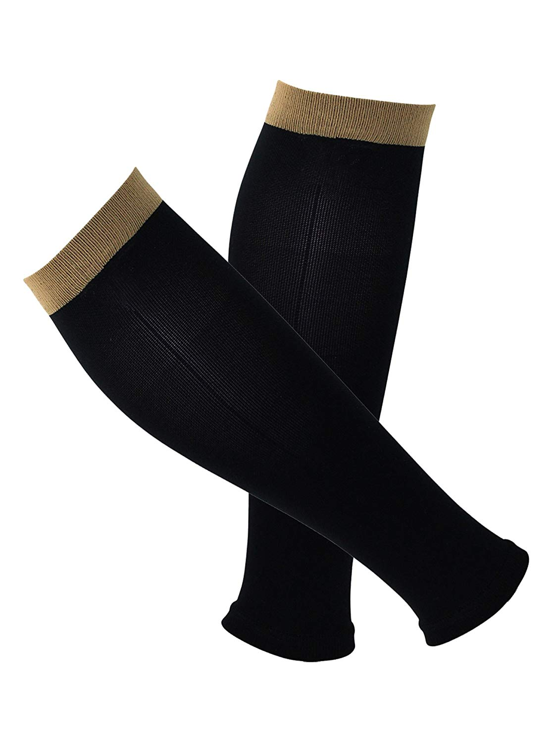 9592911ca Get Quotations · Copper Compression Recovery Calf   Shin Splint Leg Sleeves