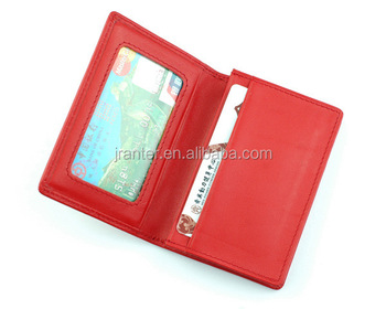 Women Genuine Leather Slim Card Holder, Custom Credit Card Wallet Holder