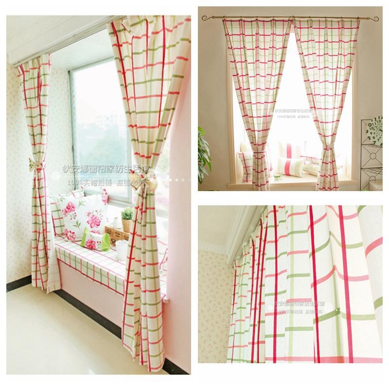 online kaufen gro handel red plaid vorh nge aus china red plaid vorh nge gro h ndler. Black Bedroom Furniture Sets. Home Design Ideas