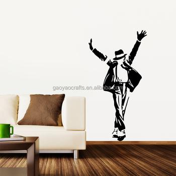 Michael Jackson Etiqueta Sala Arte Decoración Mural Vinilo Papel De Pared  DIY Etiqueta De La Pared
