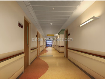Anti Impact Hospital Hallway Vinyl Handrail For Elderly