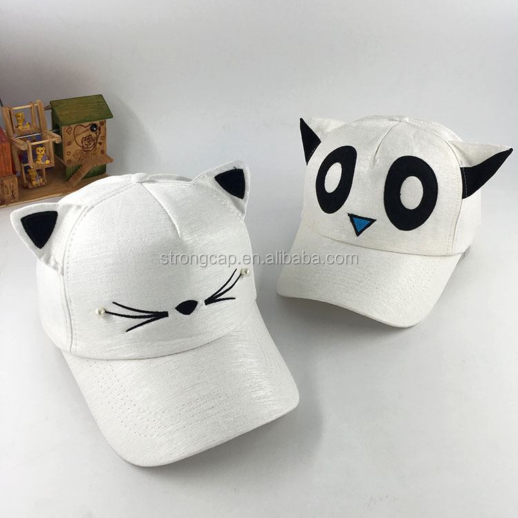 The summer sun hat female cute cat face Baseball Cap Hat leisure Korean cat ears all-match parent-child peaked cap