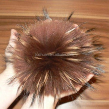 Mixed colors faux fox fur alphabet pom pom 3cm to 16cm