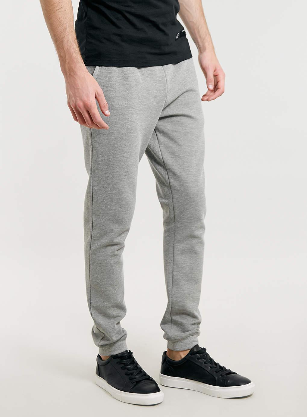 932e1f5a038 gris medio flaco con textura de encargo jogger pantalones de chándal para  los hombres