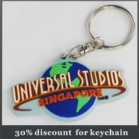 company logo shape rubber keychain soft pvc keychain silicon keychain keyring