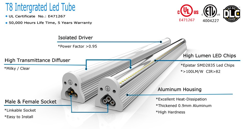 8ft Led Fluorescent Replacement Bulbs Tube Led 2ft 3ft 4ft