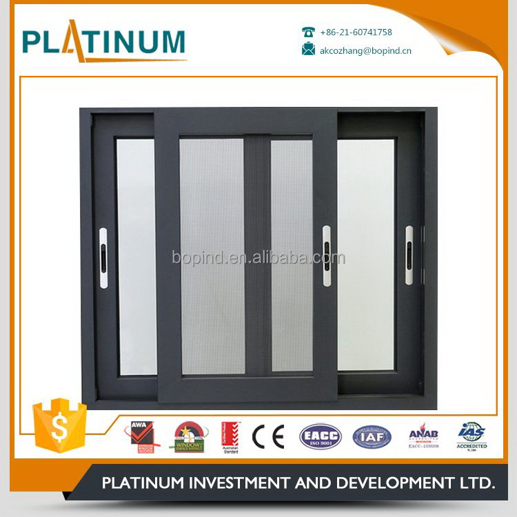Popular products crazy selling double glass horizontal sliding window