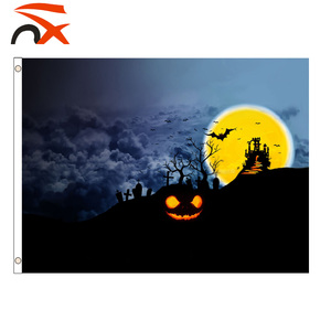 100% polyester custom 3*5ft festival banner design halloween Flag