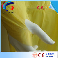 Yellow isolation gown disposable cpe /pe gowns for medical waterproof hospital gown