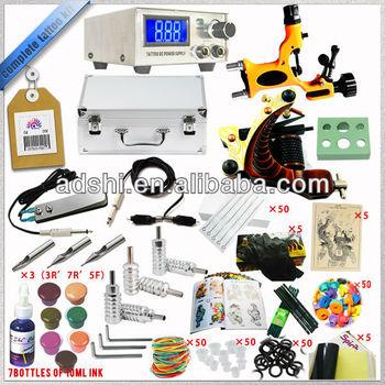 Pro Value Tattoo Machines Kit 2 Machine Guns Power Supply 54 Inks ...