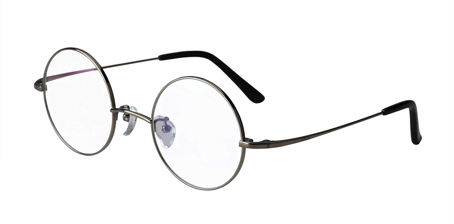 24301989fb ... (Without Nose Pads) 49.99. Agstum Pure Titanium Retro Round  Prescription Eyeglasses Frame 44-24-140