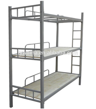 Bedroom Furniture Three Tier Bunk Bed Metal Triple Bunk Bed Buy