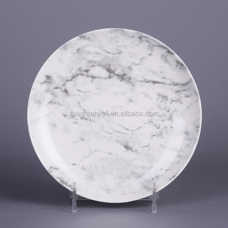 oem naturaleza diseo blanco esmaltado vajilla para restaurante hotel vajilla platos placa conjunto