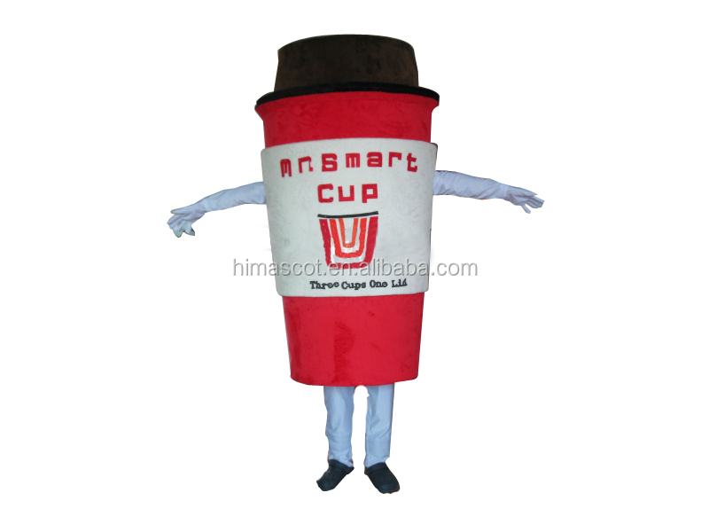 HI CE funny coffee cup cartoon mascot costume made in China