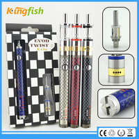 New starter kit 1.5ohm atomizer evod twist 3 m16 best one time use e cig for china wholesale