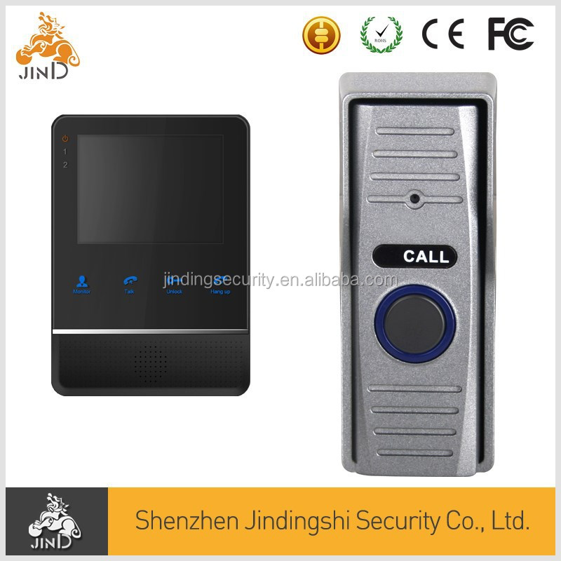 4inch LCD wired wireless IP video door phone door bell suport Mobile view and IOS system