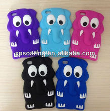 3D elephant silicon cover case for ipod touch 4