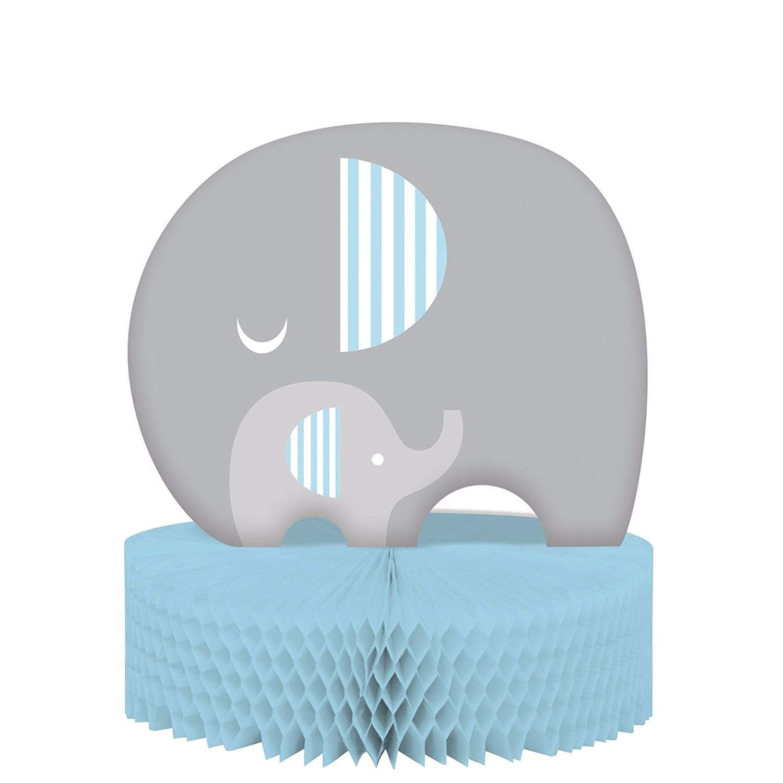 Baby Shower Boy 'Little Peanut' Elephant Party 3D Honeycomb Table Centerpiece
