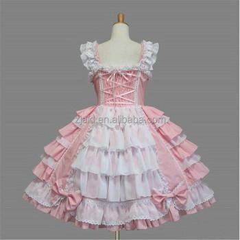 Lolita Buy Dame Jahrgang Partykleid Rosa Ärmellosen Kleid iuOkXZTP