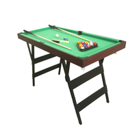 5Ft MDF Folding Snooker Pool Table Indoor Foldable Removeable Billiard Pool Table