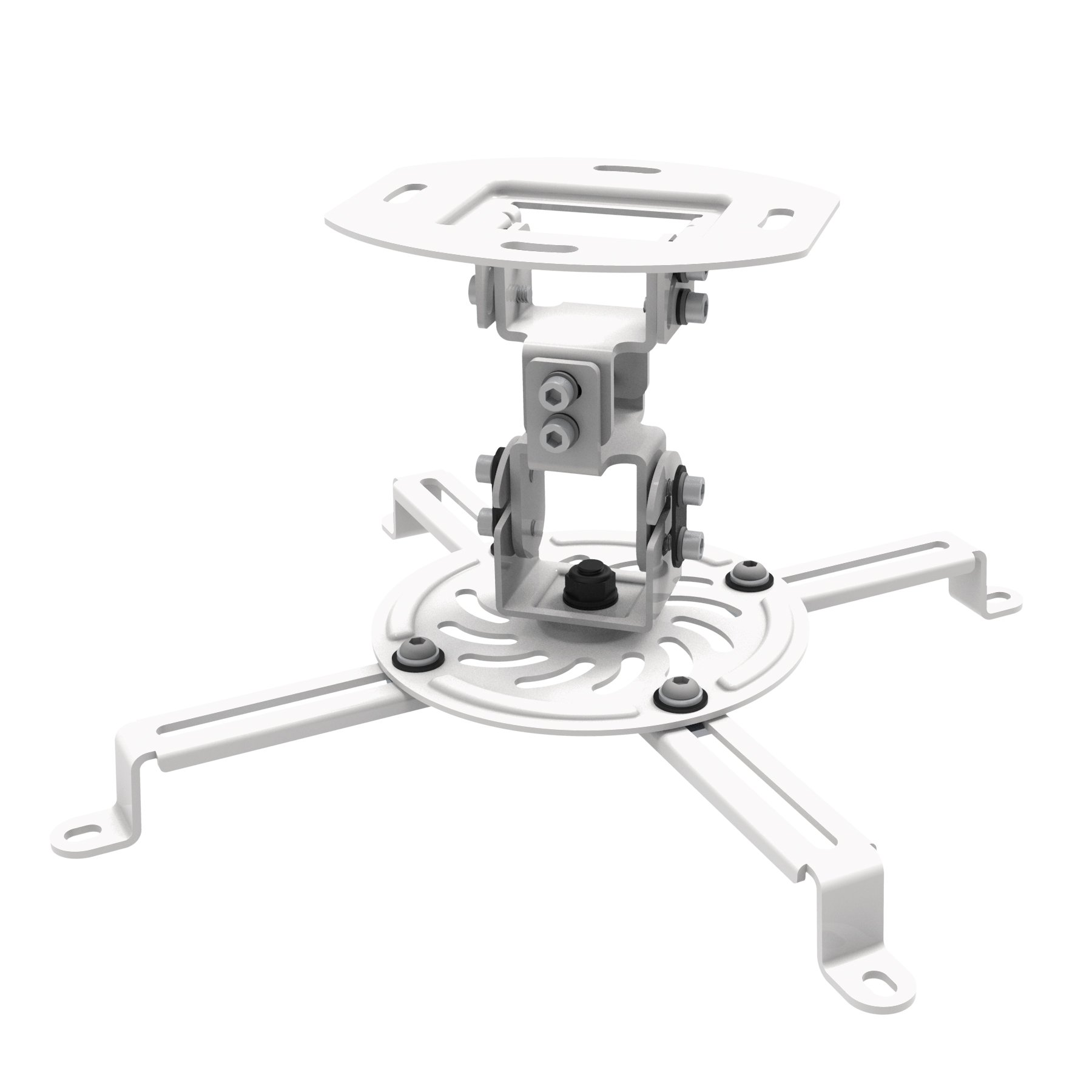 "ProHT Universal Ceiling Projector Mount(05460), Mount Accessory fit most 2.1""-12.6"" projector, Max Load 29.7lbs, +15~ -15°tilt, +15~ -15°swivel, 360°rotate,5.9""Mounting profile"