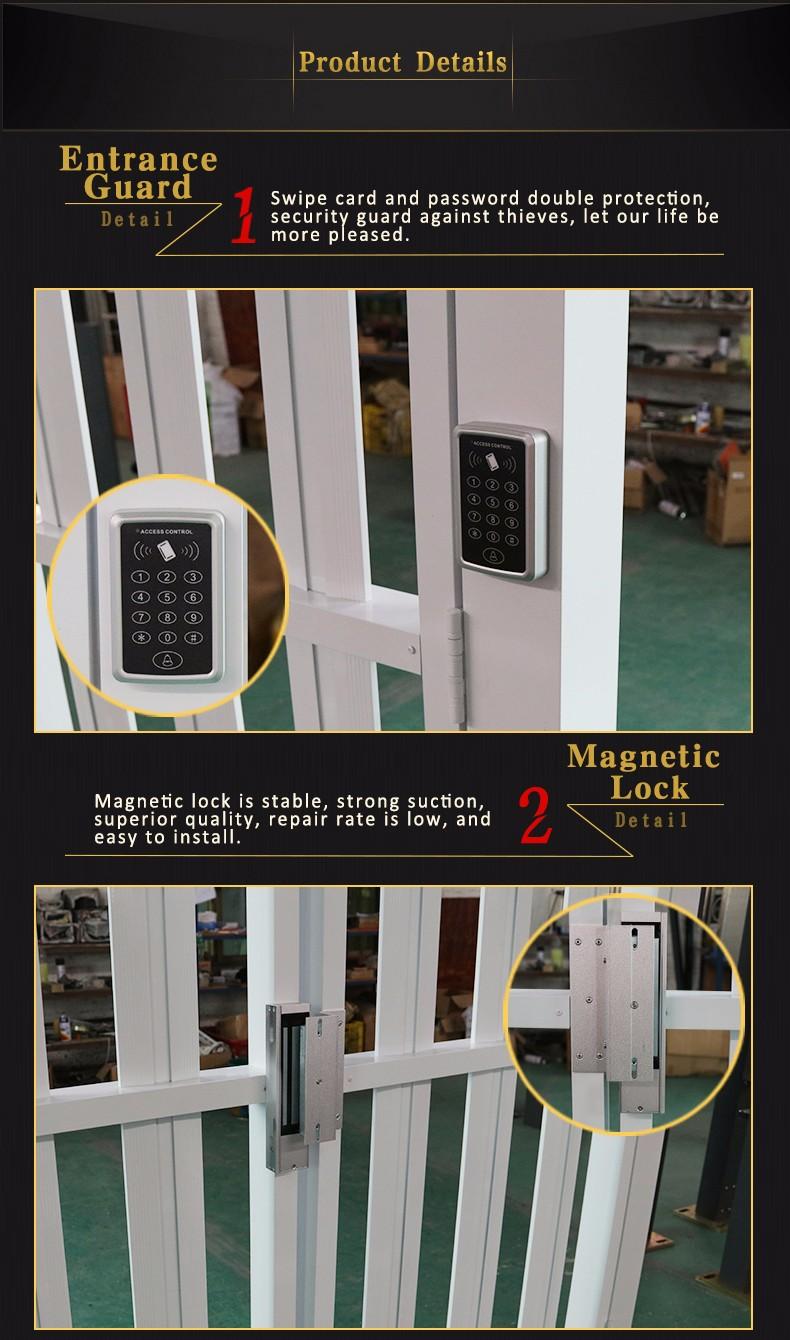 Novo design portão principal automático portão de correr de alumínio