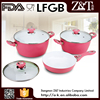 Trade Assurance Aluminum cookware set ceramic coating with glass lid